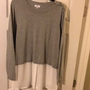 Crown and Ivy  gray sweater
